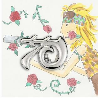 R 槍與玫瑰墜飾/>