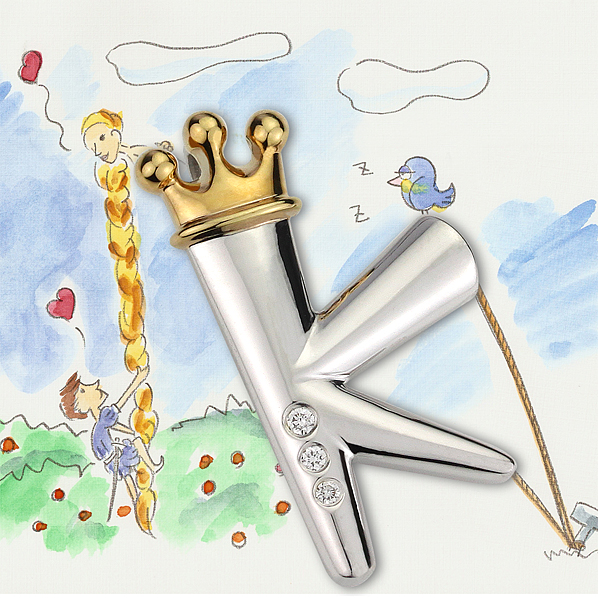 K 國王墜飾