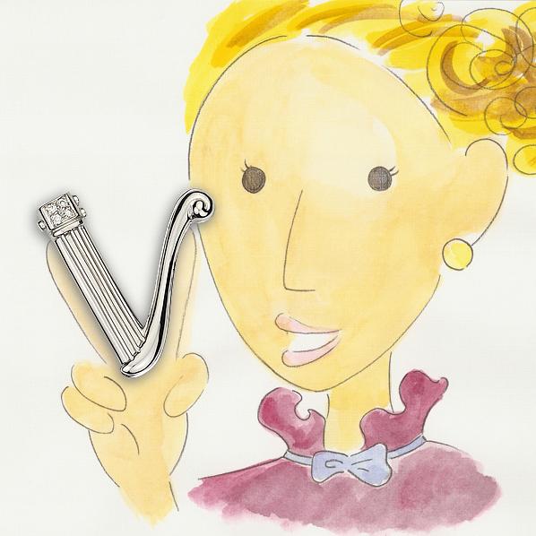 V 小提琴墜飾
